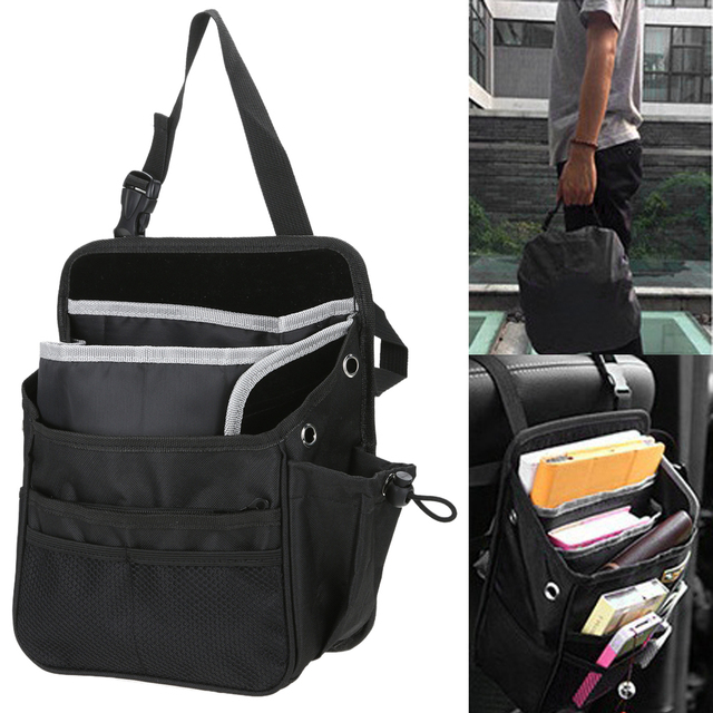 Universal Auto Car Seat Organizer Waterproof Fabric Multi Pocket Storage Bag Hanging Pouch For Most