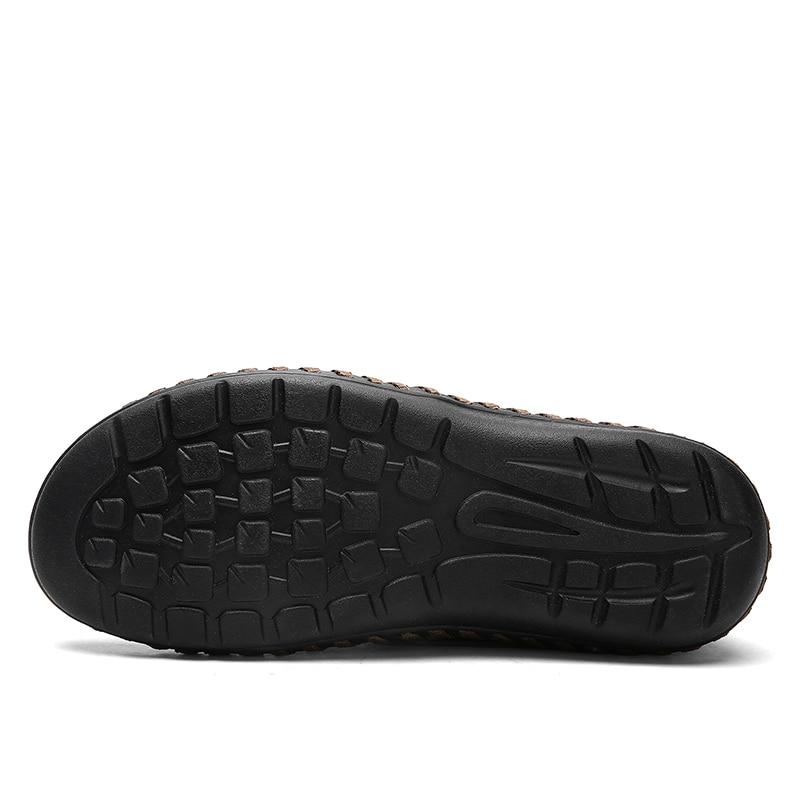 green Brown black 7 De Grande Hommes Plat Casual D'été Respirant on Bleu Slip 5 Noir Mode Confortable Vert Taille blue 10 2018 Chaussures CwHqR