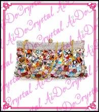 Aidocrystal bunten abnehmbaren kette partei tasche für mode dame
