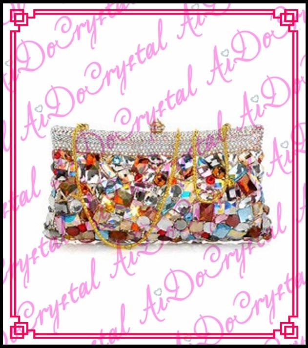 Aidocrystal colorful detachable chain party font b bag b font for fashion lady