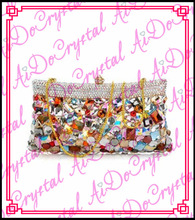 Aidocrystal colorful detachable chain party bag for fashion lady