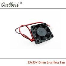 Мини кулер 12В для охлаждения чипсета/процессора 35х35х10мм, 2х пиновый кабель 18 см.