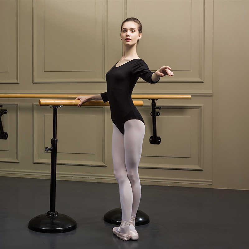 سانشا المرأة طويل كم ثياب العميق جولة عودة القطن ليكرا بسيط تصميم الكبار الباليه Dancewear الجمباز يوتار C159SC