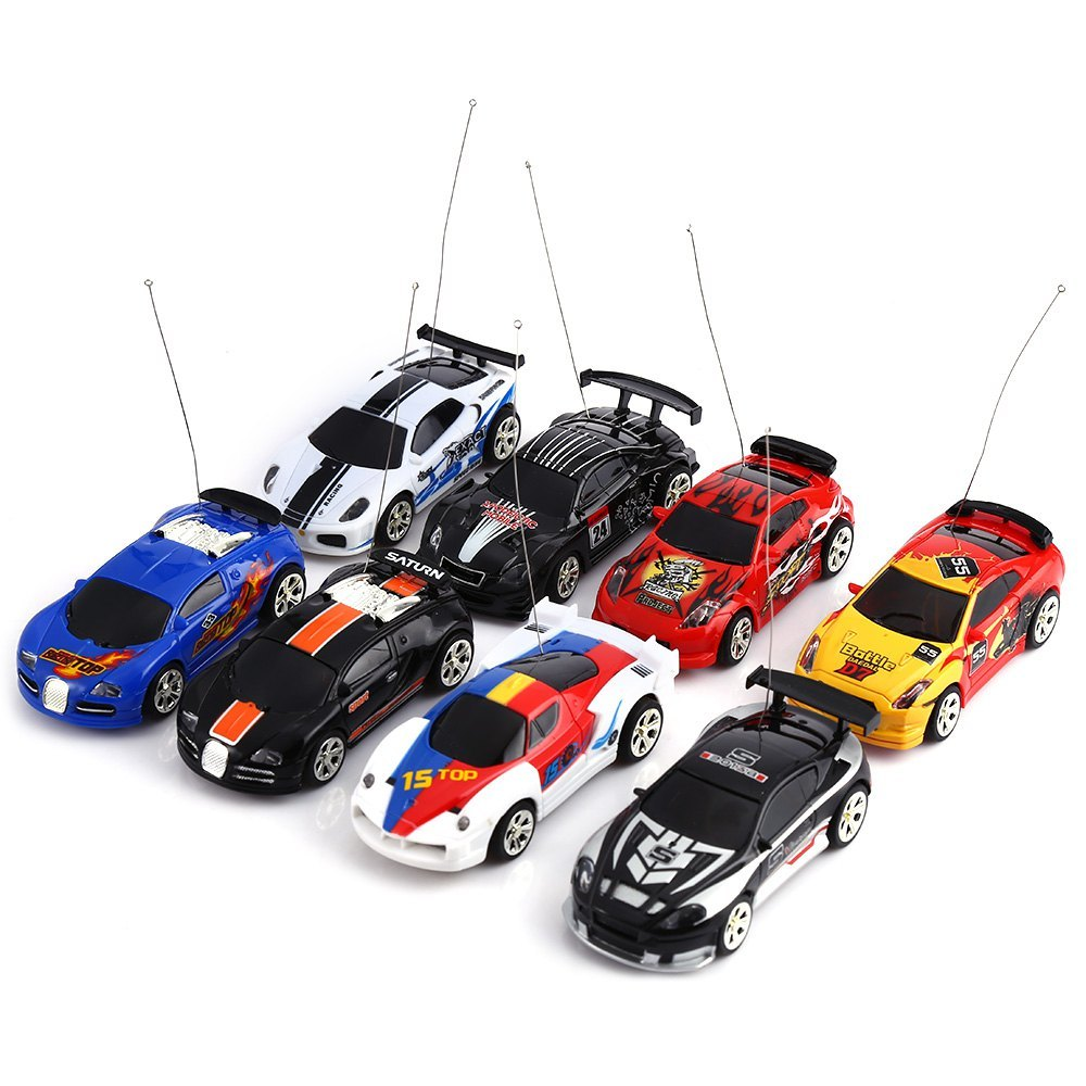 mini create toys cars coke can racing car high speed rc cars built in rechargeable battery remote control car toy gifts for kids