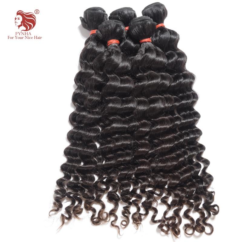 ФОТО 2pcs/lot 7A Malaysian Virgin Hair Deep Wave Human Hair Weave Extensions natural black 12-30