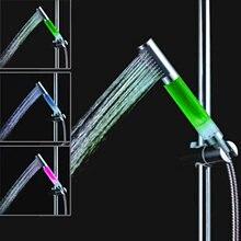 3 цвета led Температурный датчик управления душевая головка
