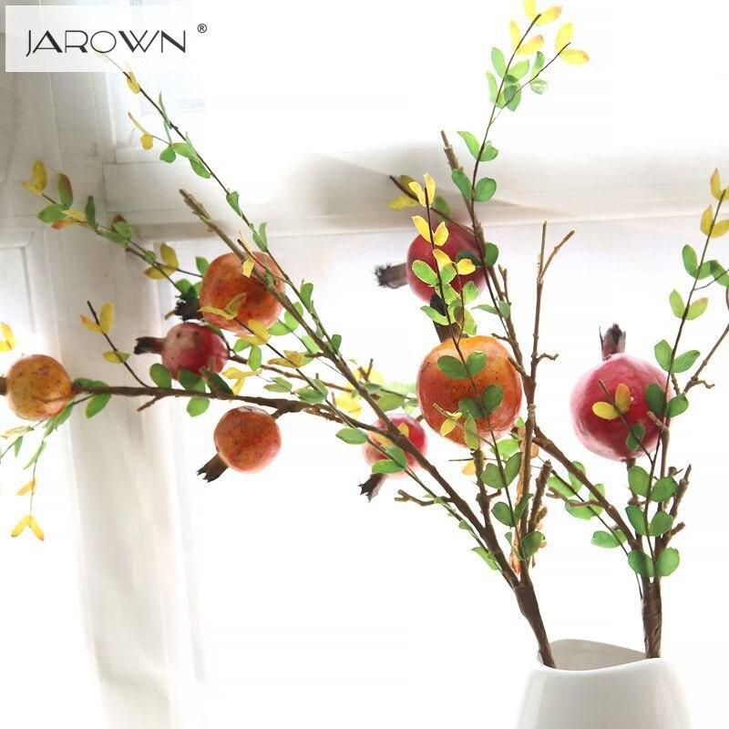 €5.78 9% de réduction|Grenade artificielle en plastique fruits branche  artificielle vert plante fleurs pour mariage maison jardin décoration-in  Fleurs ...