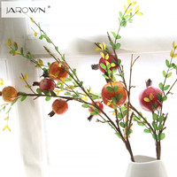 Artificial Pomegranate Plastic Fruit Branch Artificial Green Plant Flowers For Wedding Home Garden Decoration