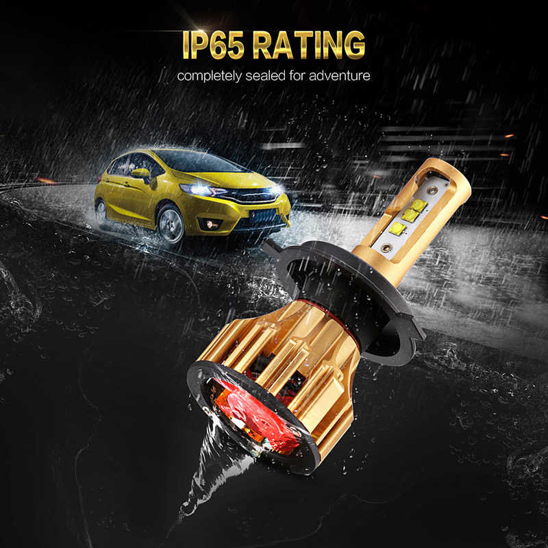 Oslamp Car LED H7 Headlight 70W 6500K SMD Chips Plug-n-Play Aftermarket Replacement H4 Bulbs for Car LED 9005 9006 H11 Car Bulb