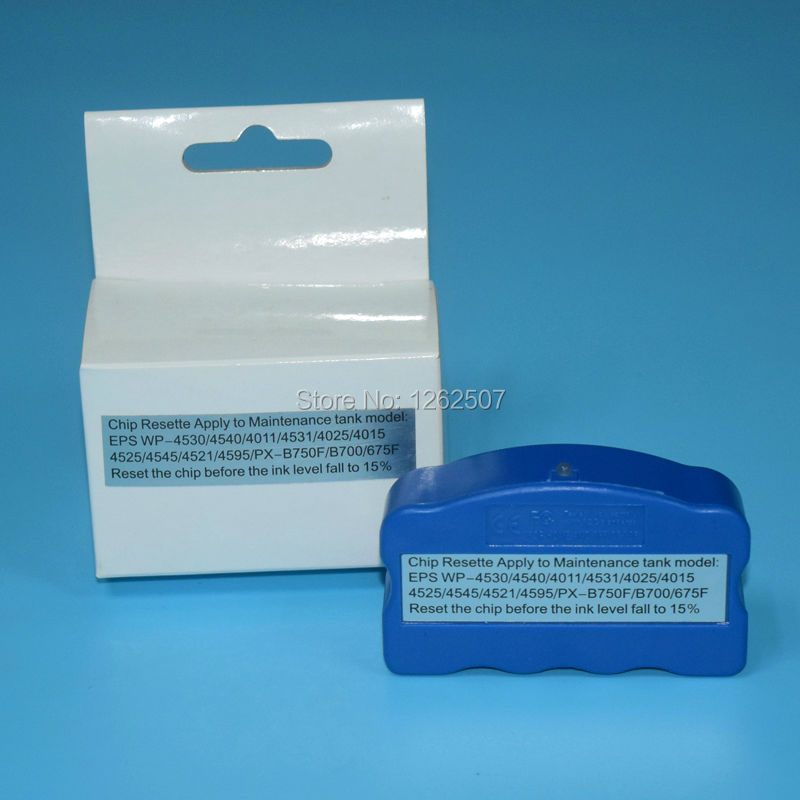 Ink Maintenance Box Chip Resetter T6711 For Epson For Epson WF-3520 3530 3540 WF-3620 3640 WF-7510 7520 7610 7620 7110 Printers картридж epson c13t27114020 для wf 3620 3640 7110 7610 7620 черный