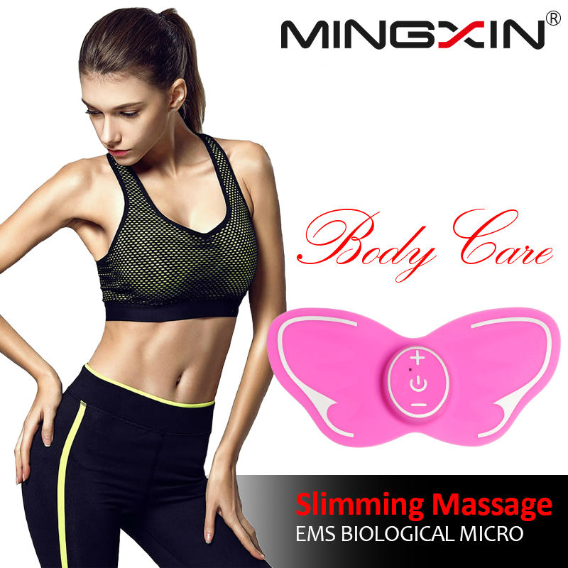 MINGXIN MINI Butterfly Design Body Muscle Electronic Slimming Massager for Fitness 1pc relax massageador eletrico para o corpo 2017 hot sale mini electric massager digital pulse therapy muscle full body massager silver
