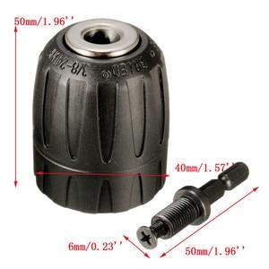 Image 2 - 1/4 אינץ Hex Shank 0.8 10mm תרגיל Keyless צ אק מקיטה כוח כלים אביזרי 1 כלי כוח כלים