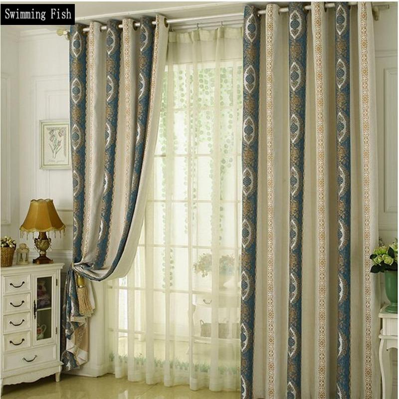 unid moderno estilo minimalista jacquard chenilla cortinas de sombra azul prpura de tela