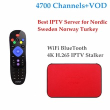 2017 iPremium TVonlinepro Amlogic S905X With Scandinavian Norway Swedish Finland IPTV Subscription Android MickyHop OS Tv Box(China)