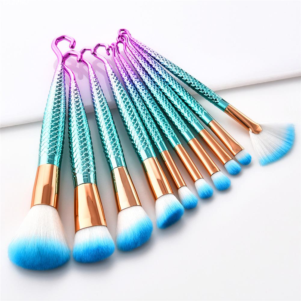 7pcs Diamond Shape hook Handle Makeup Brushes Set Foundation Powder Blush EyeShadow Lip Brush kwasten Beauty Makeup Tools Kit