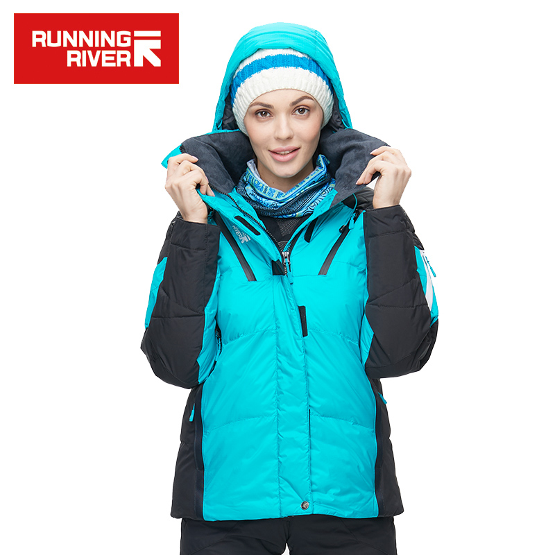 RUNNING RIVER Brand Women Winter Warm Ski Jacket S-XXXL Size Women Windproof Sports Jackets High Quality Snow Jacket #L4984 unisex work jacket suit sets winter warm polyester cotton jumpsuit coveralls windproof size m l xl xxl xxxl xxxxl for choice