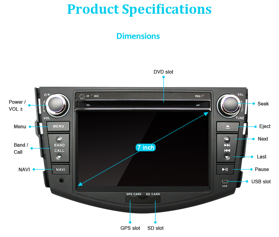 Flash Deal Eunavi Car DVD Player 2Din Car Radio For Toyota RAV4 2006 2007 2008 2009 2010 Steering Wheel control Touch screen GPS Navigation 17