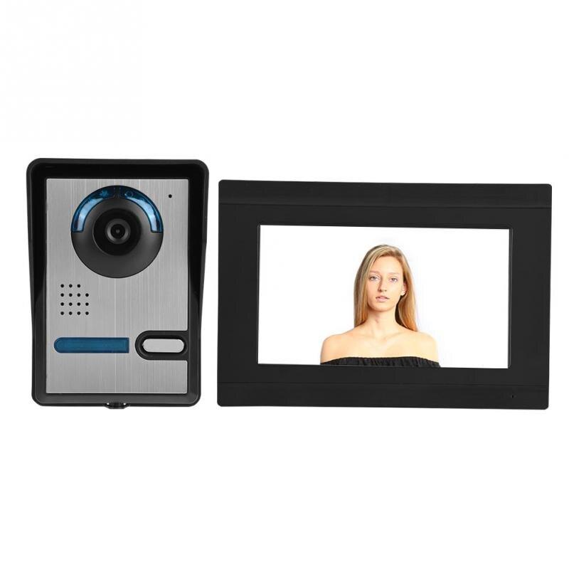 Беспроводной видео телефон двери WI FI Умных глазок Звонок домофона монитор Запись разблокировать 7 дюймов Сенсорный экран 1000TVL с IR CUT