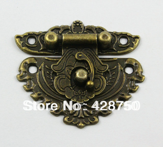 Antique Brass Jewelry Box Hasp Latch Lock 50x56mm with Screwsin