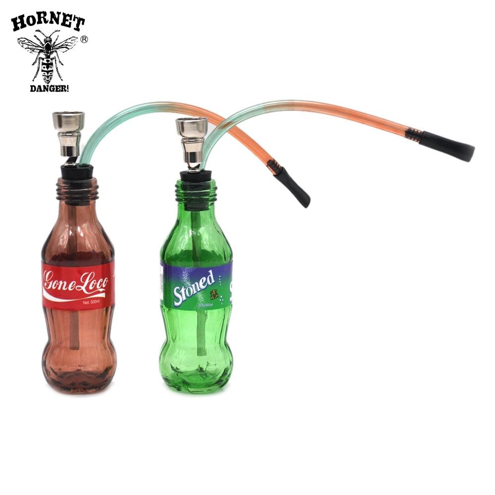 Необычные Дизайн 1 шт. Стекло и металл курительная трубка бутылки табака водопроводная труба
