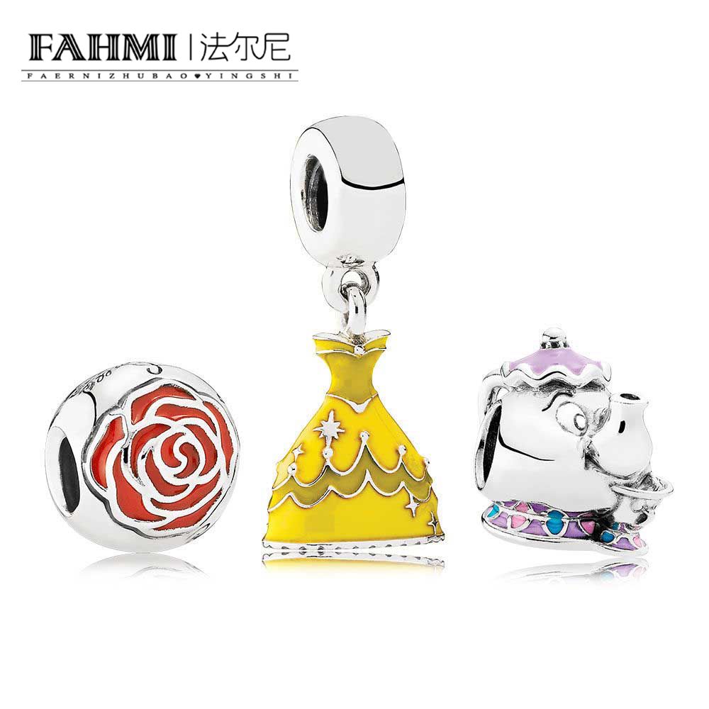 FAHMI CPPO 100% 925 Sterling Silver Beauty and the Bead Gift Set fit charms original Bracelets jewelry A SetFAHMI CPPO 100% 925 Sterling Silver Beauty and the Bead Gift Set fit charms original Bracelets jewelry A Set