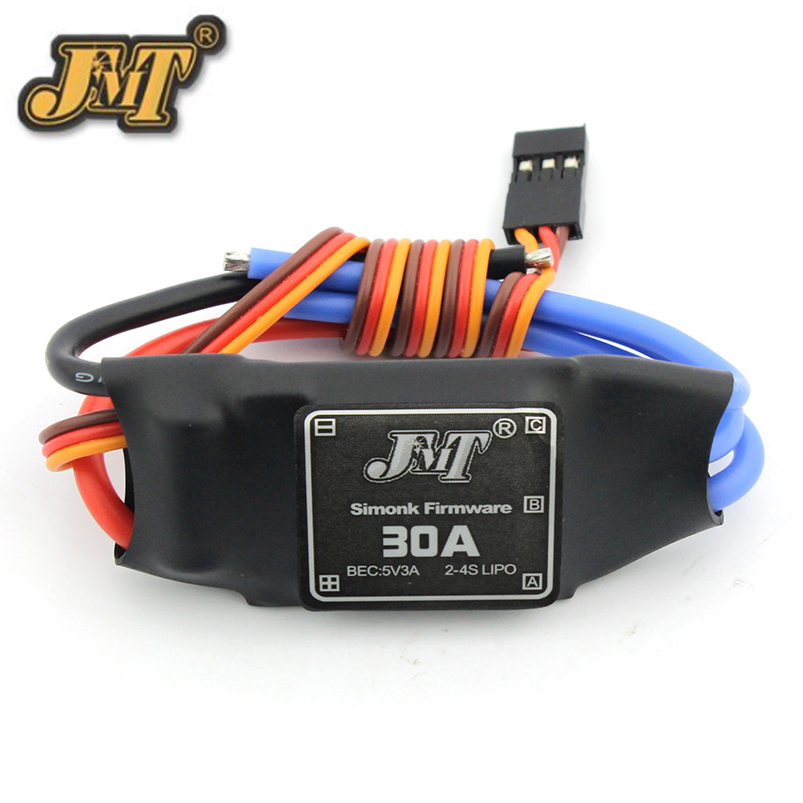 <font><b>JMT</b></font> <font><b>30A</b></font> Brushless <font><b>ESC</b></font> Speed Controller For DIY FPV RC Quadcopter Hexacopter Multi-Rotor Aircraft Trex 450 Helicopter image