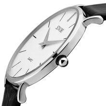 Sinobi 2016 Untra delgada para hombre de cuarzo relojes de primeras marcas de lujo reloj de moda correa de cuero impermeable hombres de relojes masculino