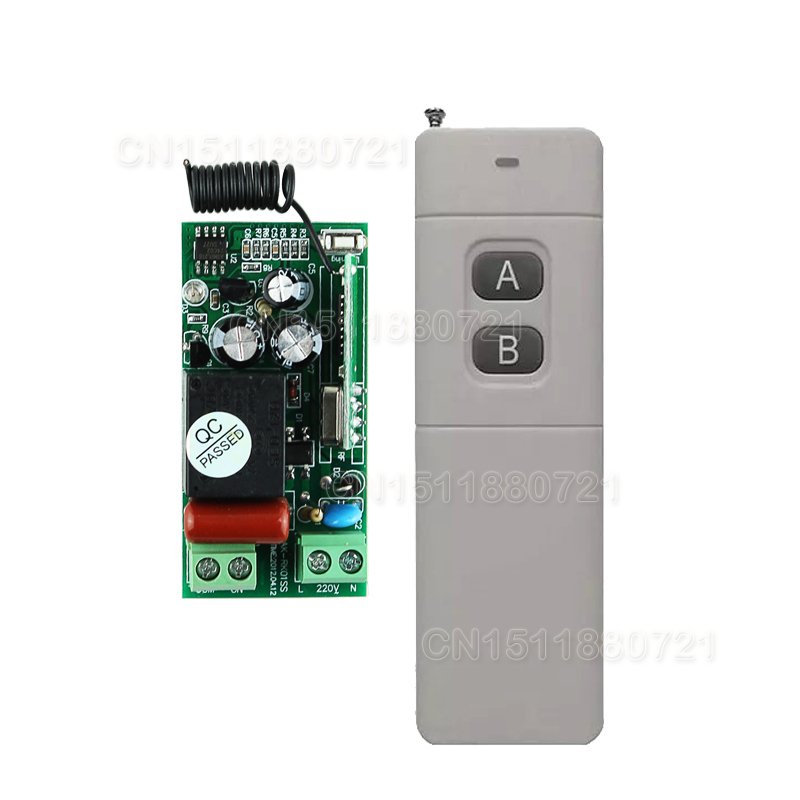 AK-RK01S-220-J 220V 1CH RF Wireless Remote Switch Wireless Light Lamp LED Switch 315/433 Remote ON OFF ControllerAK-RK01S-220-J 220V 1CH RF Wireless Remote Switch Wireless Light Lamp LED Switch 315/433 Remote ON OFF Controller