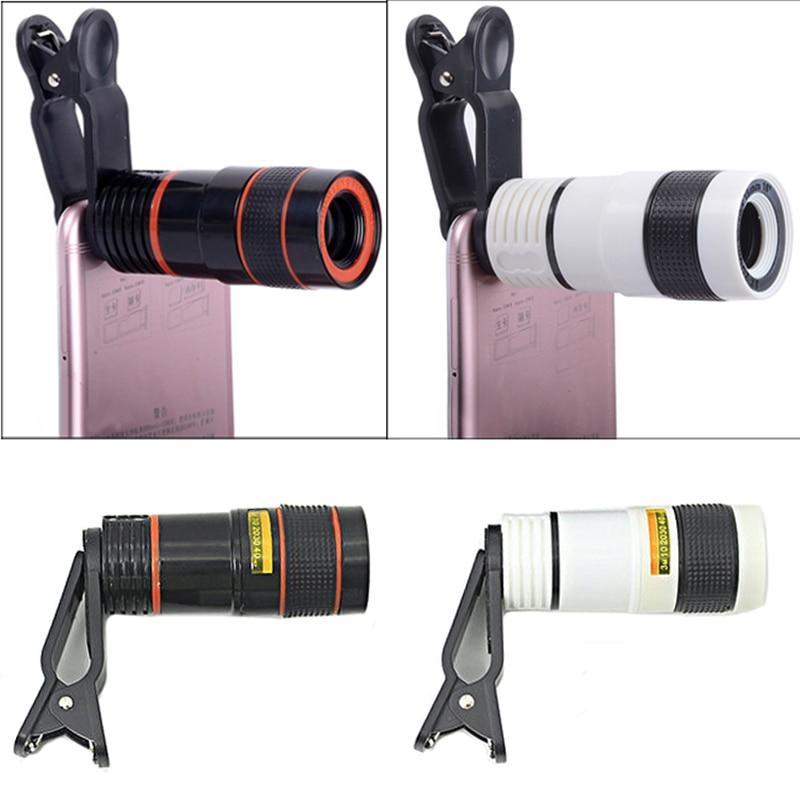 Telescópio Óptico Lente Da Câmera Do Telefone Celular com Telefone Clipe