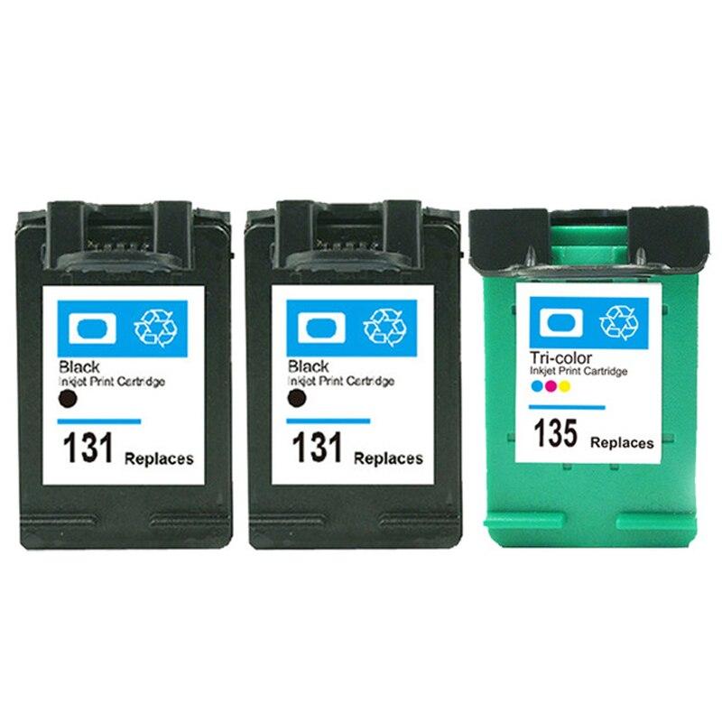 Para hp 131 135 Cartucho de Tinta Compatível para hp Deskjet 460 5743 Photosmart 2573 PSC1600 1613 2350 de impressora