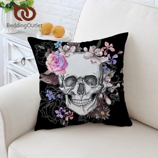 BeddingOutlet Del Cranio Dello Zucchero Fodere per Cuscini Floreale Coperture pe