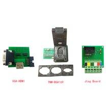 EMMC 낸드 플래시 TNM BGA169 01 + VGA/HDMI ISP 어댑터 + Jtag 보드, TNM5000 자동 감지, 프로그램 TV 또는 모니터로 모든 emmc 지원