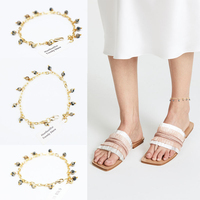 2018 Rushed Sale Halhal Halhal Ayak Zinciri Leg Bracelet Anklet Foot Jewelry Beach Wedding Bridesmaid Gift Handcrafted Dainty