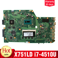 Original New I7 4510U 4G For ASUS X751L K751L K751LN X751LD Motherboard GeForce 840M With I7