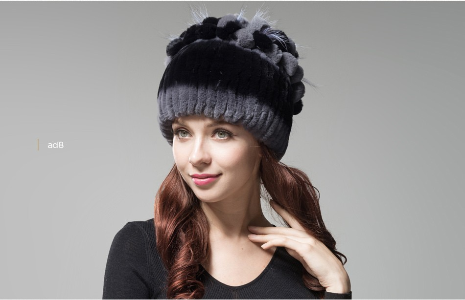 fur winter hats for women PCM003 (25)