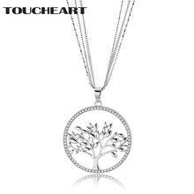 Toucheart Древо жизни ожерелья и кулоны для женщин Шарм Роскошные