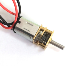 With line, N20 gear motor, smart car model motor, 3v 6v DC drive gear reducer, low speed