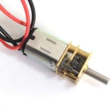 цена на With line, N20 gear motor, smart car model motor, 3v 6v DC drive gear reducer, low speed