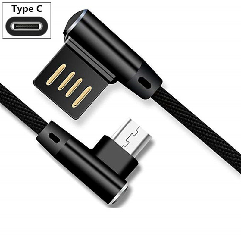 Type C Charger Cable for Xiaomi Mi 9 se 8 lite Mix 3 <font><b>2</b></font> Max 3 Pocophone F1 USB Charging for Mi 8 pro A2 6X 5s plus Angle Head image