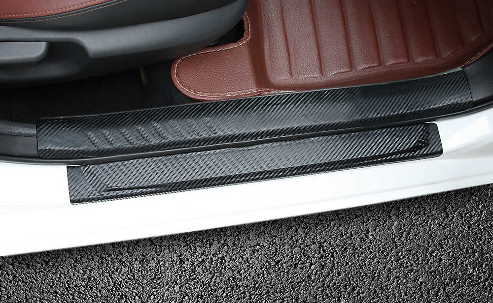 4 шт. автомобильный Стайлинг Автомобильная дверь наклейка для порога защитная пленка анти для Mitsubishi outlander 2016 lancer 10 9 Аксессуары для паджеро Горячая