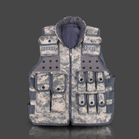 Men outdoor CS defense protect camouflage multipocket nylon jungle training tactical vests sleeveless jacket clothes waistcoat