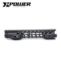 XPOWER Fortis noche sistema ferroviario M-LOK 12 para AEG aire armas de Airsoft pistola Gel Blaster M4 V2 táctico