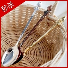 Wholesale Japanese style spatterdock zakka vintage small spoon ice cream spoon coffee spoon cochleare dessert slim dessert spoon