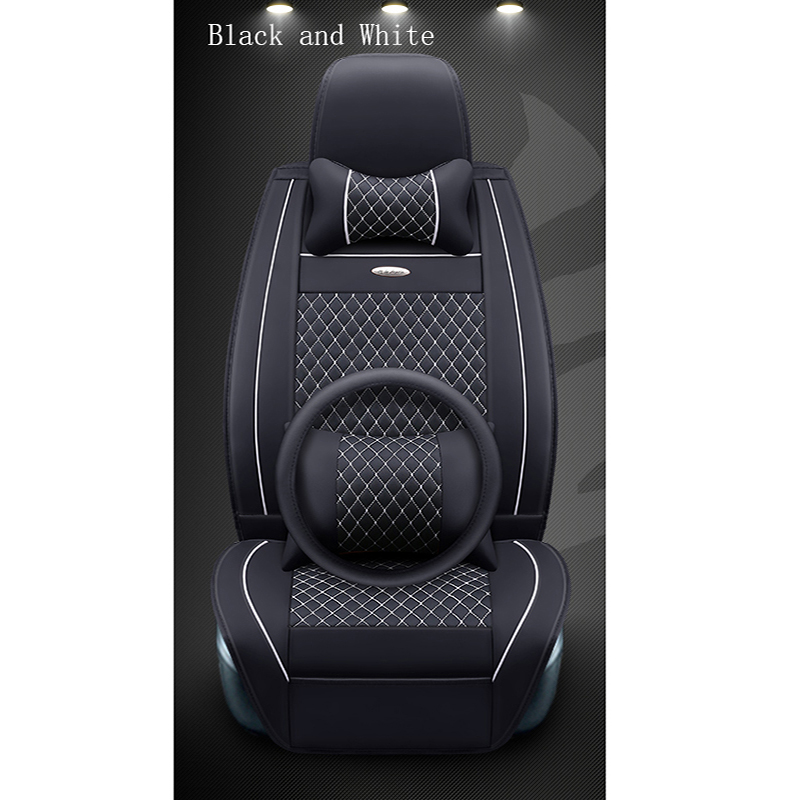WLMWL Universal Leather Car seat cover for SEAT all model LEON Toledo Ateca IBL exeo arona car styling accessories All