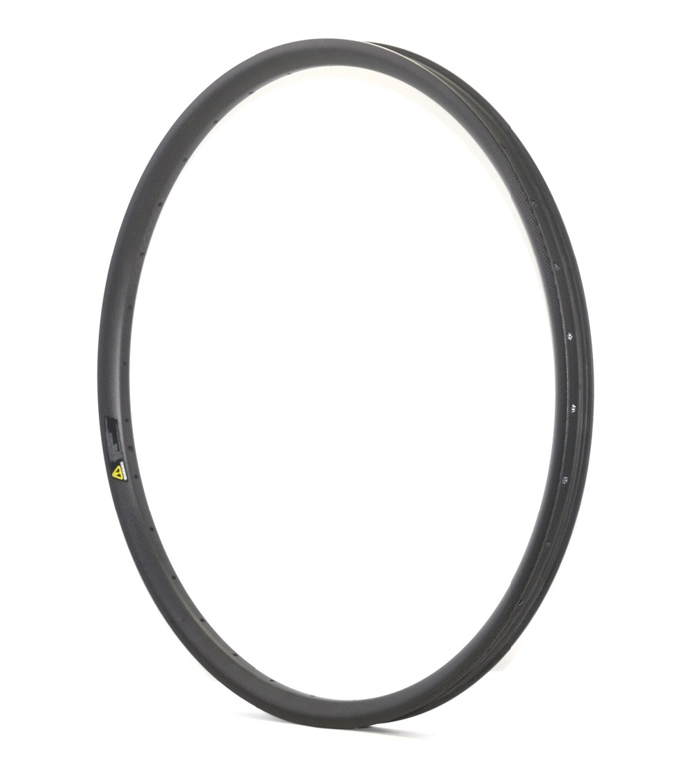 29er MTB full carbon bike rim mountain bicycle AM/DH carbon rim hookless rim tubeless compatible 35mm width 25mm depth MTB rim 26er full carbon fiber 100mm width snow fat bike rim black disc brake bicycle rim