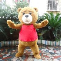 Teddy Bear Mascot Costume Halloween Cartoon Fancy Cosplay Dress Outfit
