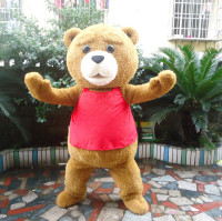 Teddy Bear Mascot Costume Halloween Cartoon Fancy Cosplay Dress Outfit