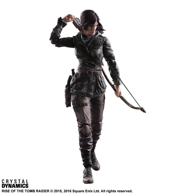 Image 3 - Экшн фигурка Kai, Raider Rise of Tomb Raider Lara Croft, ПВХ, Коллекционная модель игрушки 27 смИгровые фигурки и трансформеры    АлиЭкспресс