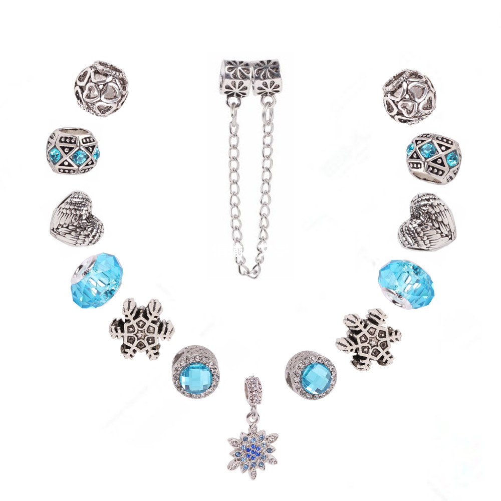 Glitz Glam Blue Diamontrigue Jewelry: Ranqin Glamour European High Quality Gift Sky Blue Jewelry
