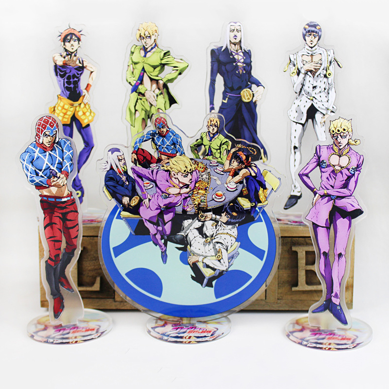 Anime Jojo Bizarre Adventure Display Stand Figure Model Plate Holder Japanese Cartoon Figure Acrylic Jewelry Christmas Gift